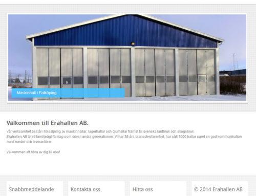Ny hemsida åt Erahallen