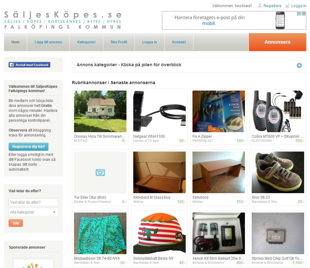 SäljesKöpes, saljeskopes, säljmarknad, webdesign, hemsidor, hemsida, tillverkning